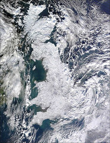 Frozen Britain Satellite Image